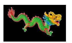 De chinese slang staat voor geluk en wijsheid. Hier symboliseert hij de praktische zaken over zijden dekbedden